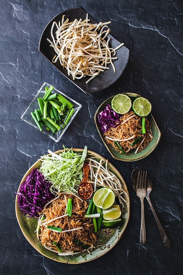 Pad Mee. Vermicelli Thai Rice Noodles