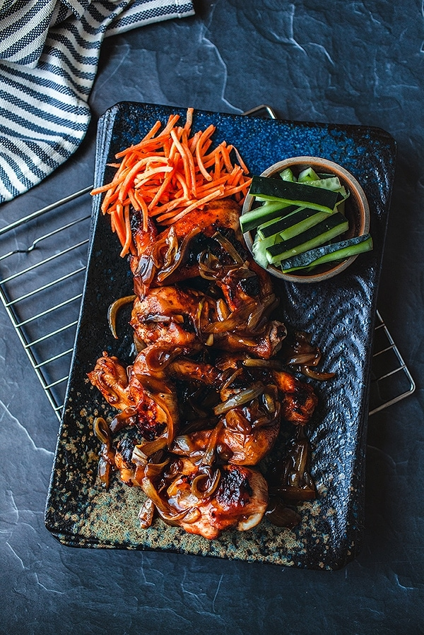 Baked Spicy Thai Chicken Wings
