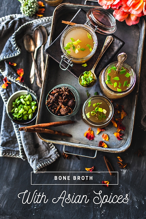 How to make beef bone broth recipe using a slow cooker. A delicious homemade recipe infused with fragrant Asian spices that is good for many uses in the kitchen. You can drink this beef bone broth to help cleanse and heal your body from inflammation.
