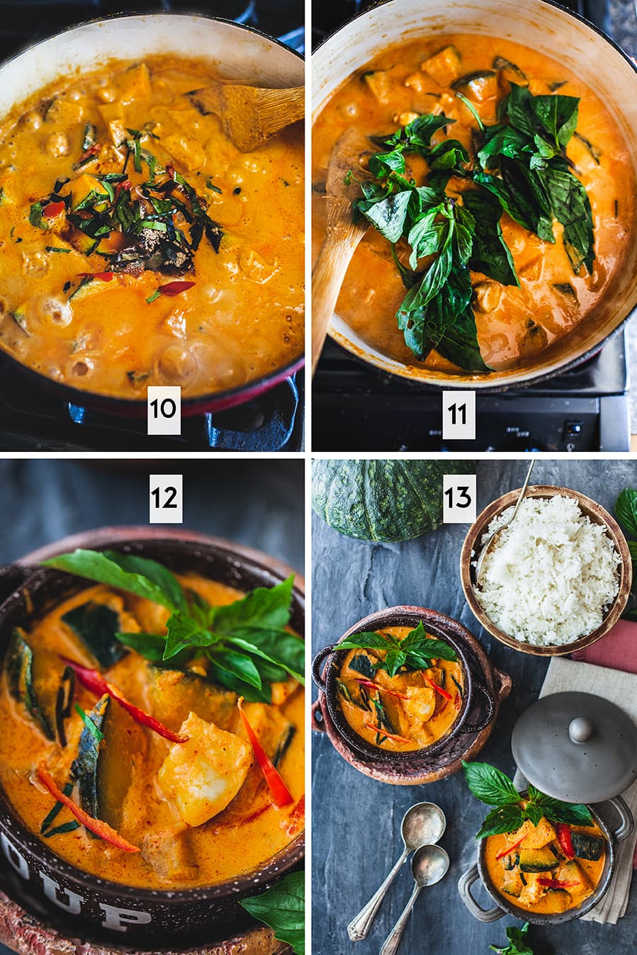 How to cook red thai curry chicken step by step 2 of 2