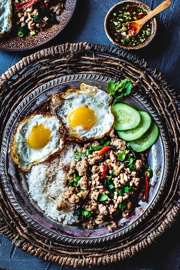 Thai  Basil Chicken, Pad Kra Pao