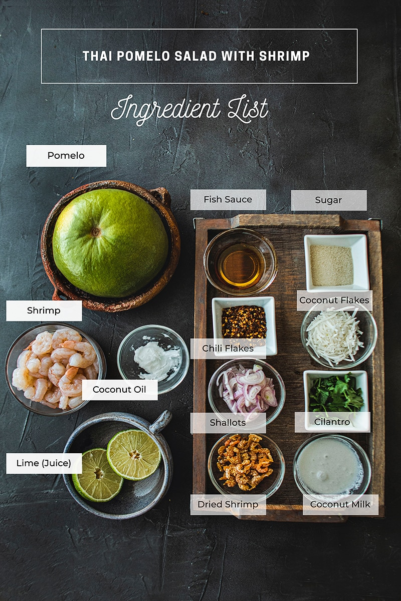 Thai Pomelo Salad Ingredient List