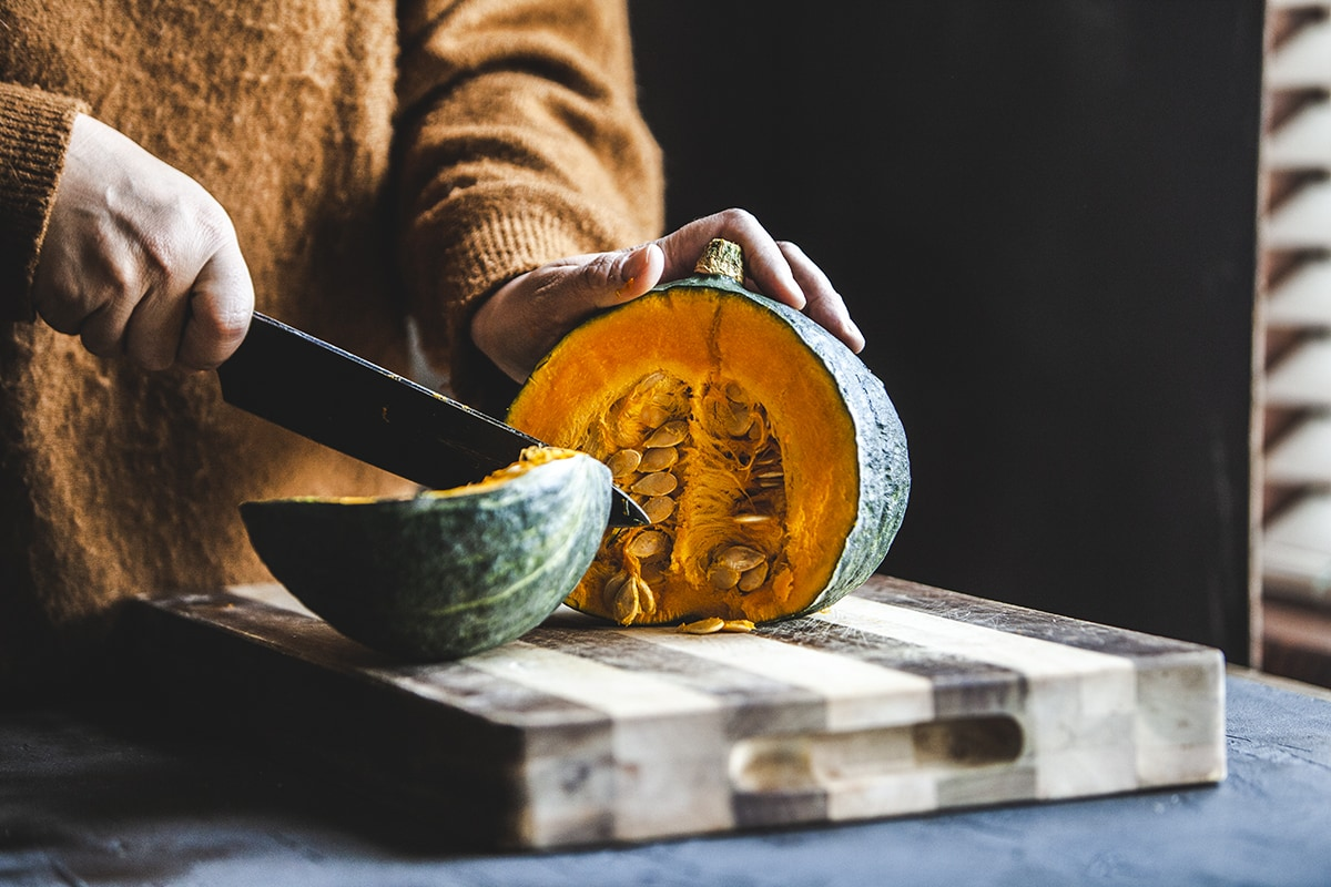 Kabocha Squash is a type of pumpkin that is commonly used in Thai cooking in dishes like curry, soups, stir-fries, and even desserts. #pumpkinrecipe #kabochasquash #thaicurry