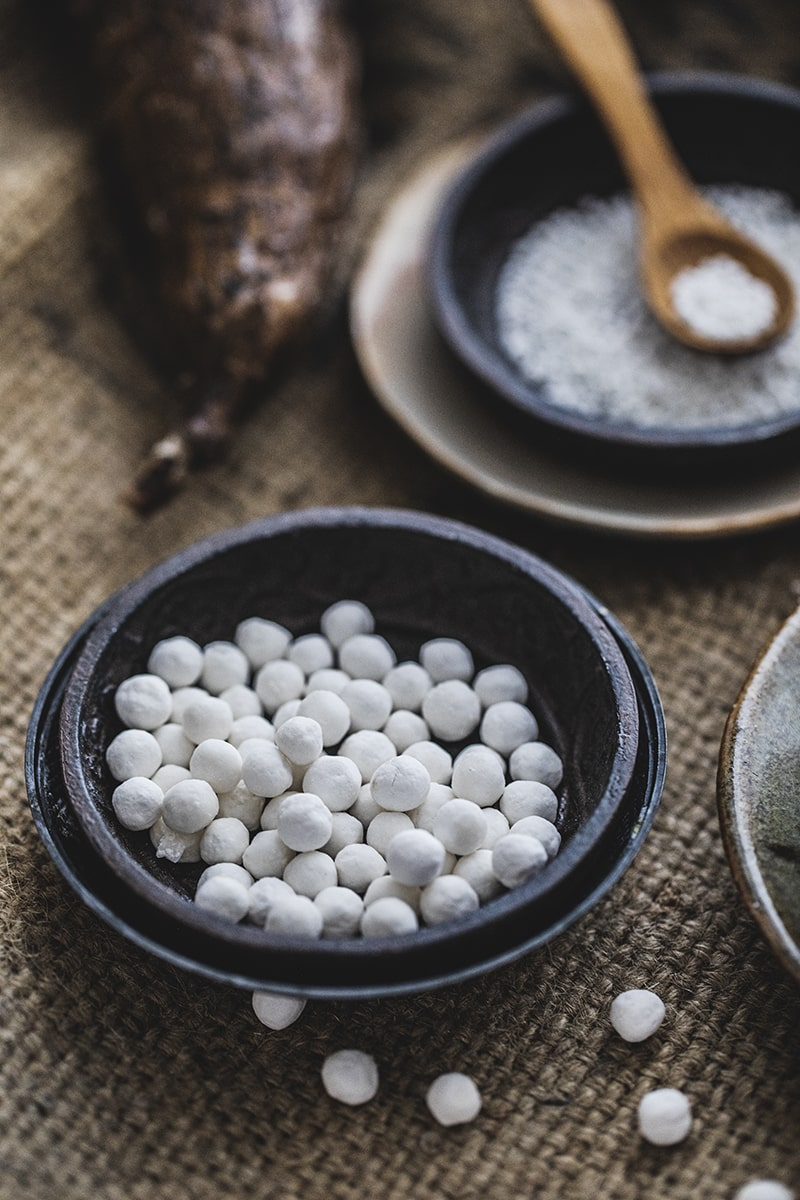What is tapioca starch? Tapioca starch or tapioca flour is made from the starch of theroot of a tuber vegetable called Cassava. Thesoft and powdery flour is often used in Thai cooking as a thickening agent for recipes like gravies, sauces, desserts, stir-fries,and soups.#tapiocaflour #tapiocapearl #cassacaflour