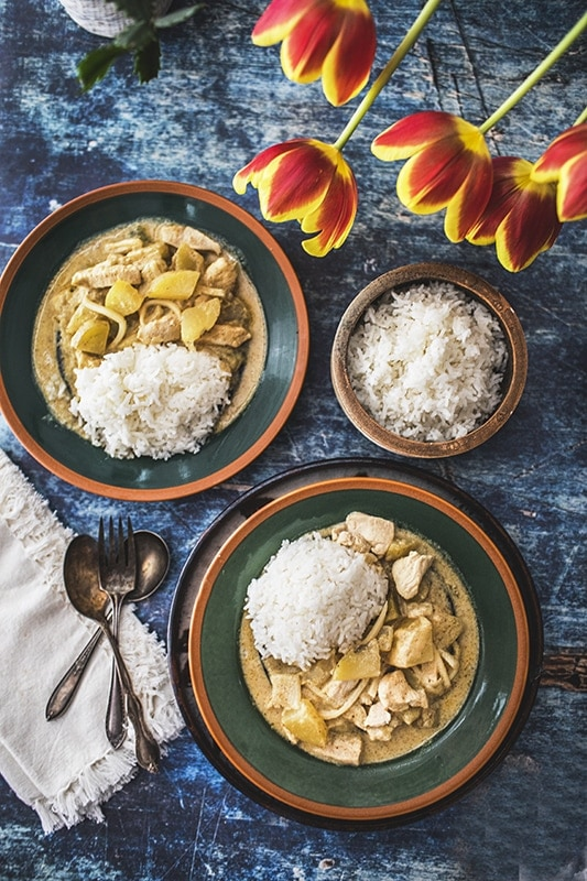 Easy Thai Yellow Curry Chicken