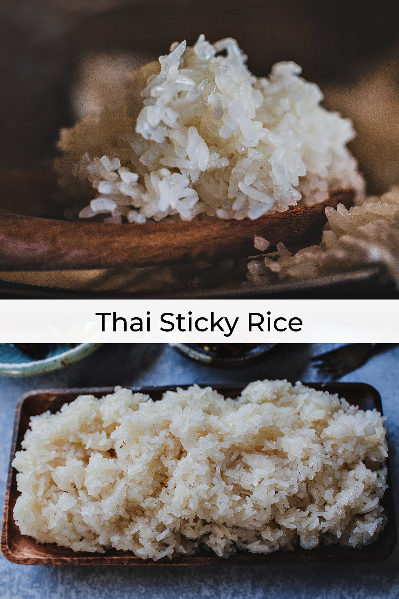 """Thai Sticky Rice also called glutenous rice or sweet rice is a type of rice that requires soaking first for a few hours before being steamed to cook it. The cooked texture is more """"sticky"""" thus the name Sticky Rice. #thaistickyrice #stickyrice #gluetenousrice #thairice"""