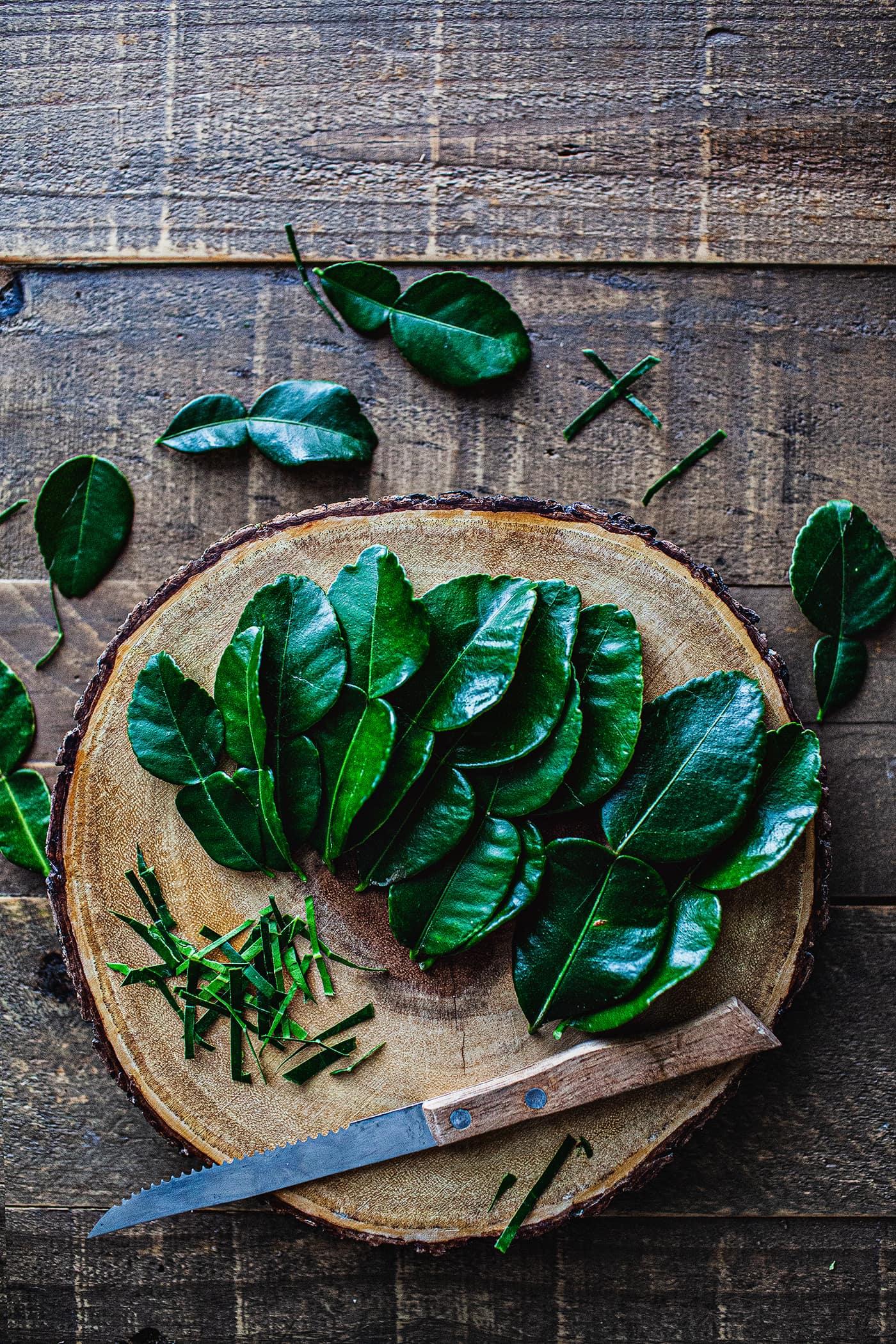 Markrut or Kaffir lime leaves