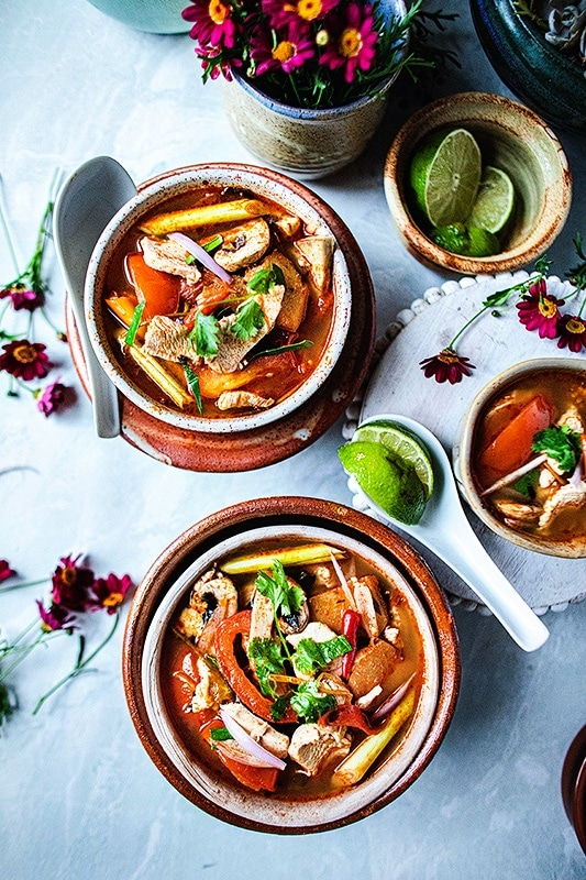 Tom Yum Soup Recipe with Chicken
